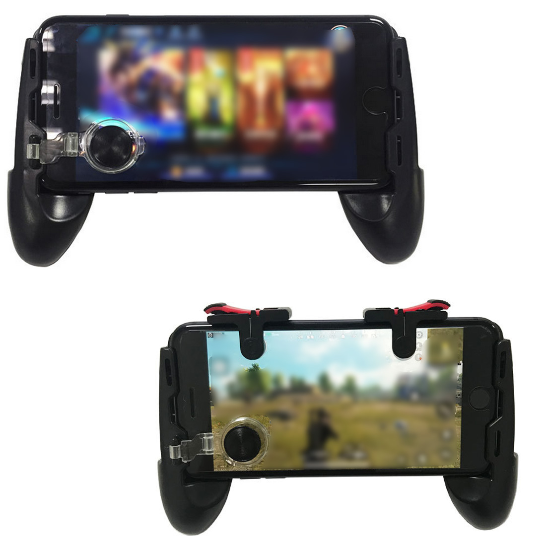 New Mobile Game Controller Gamepad + L1 R1 Trigger Aim Button L1R1 Shooter + Touch Pad Joystick for iPhone Android Phone Gaming