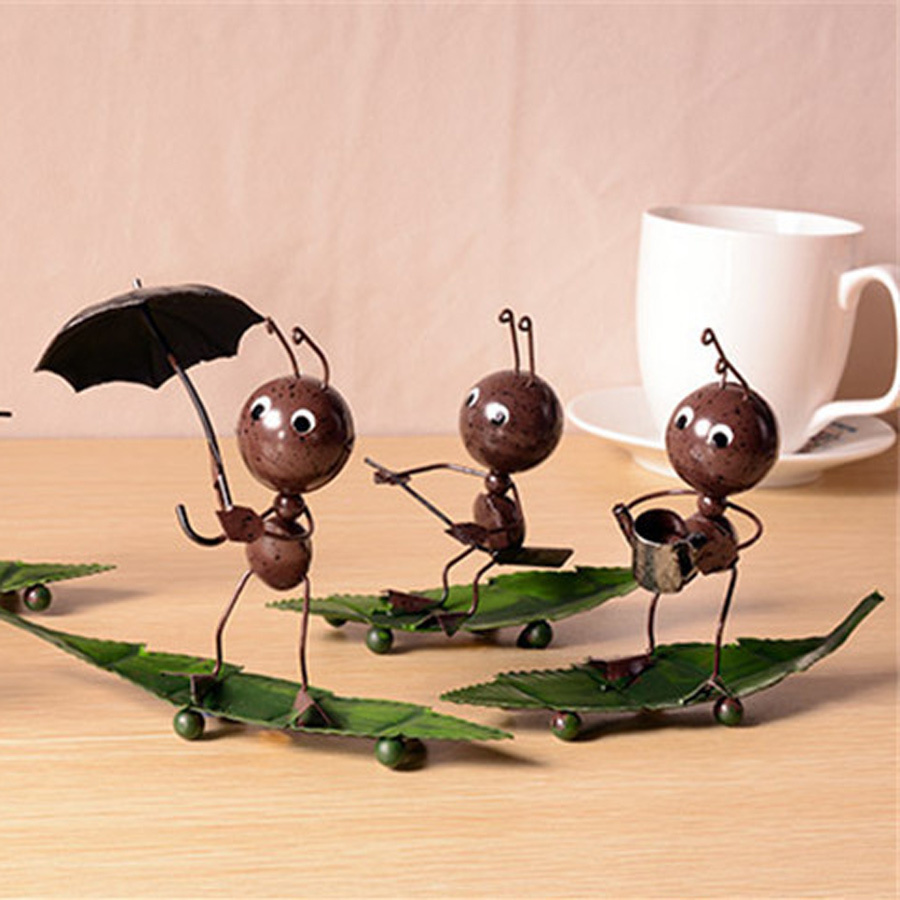 Simple Creative Home Decorations Ornaments Handmade Wrought Iron Crafts  Retro Small Insects Boating Model Birthday Gifts Pcsset On Alibaba Group  With Home ...