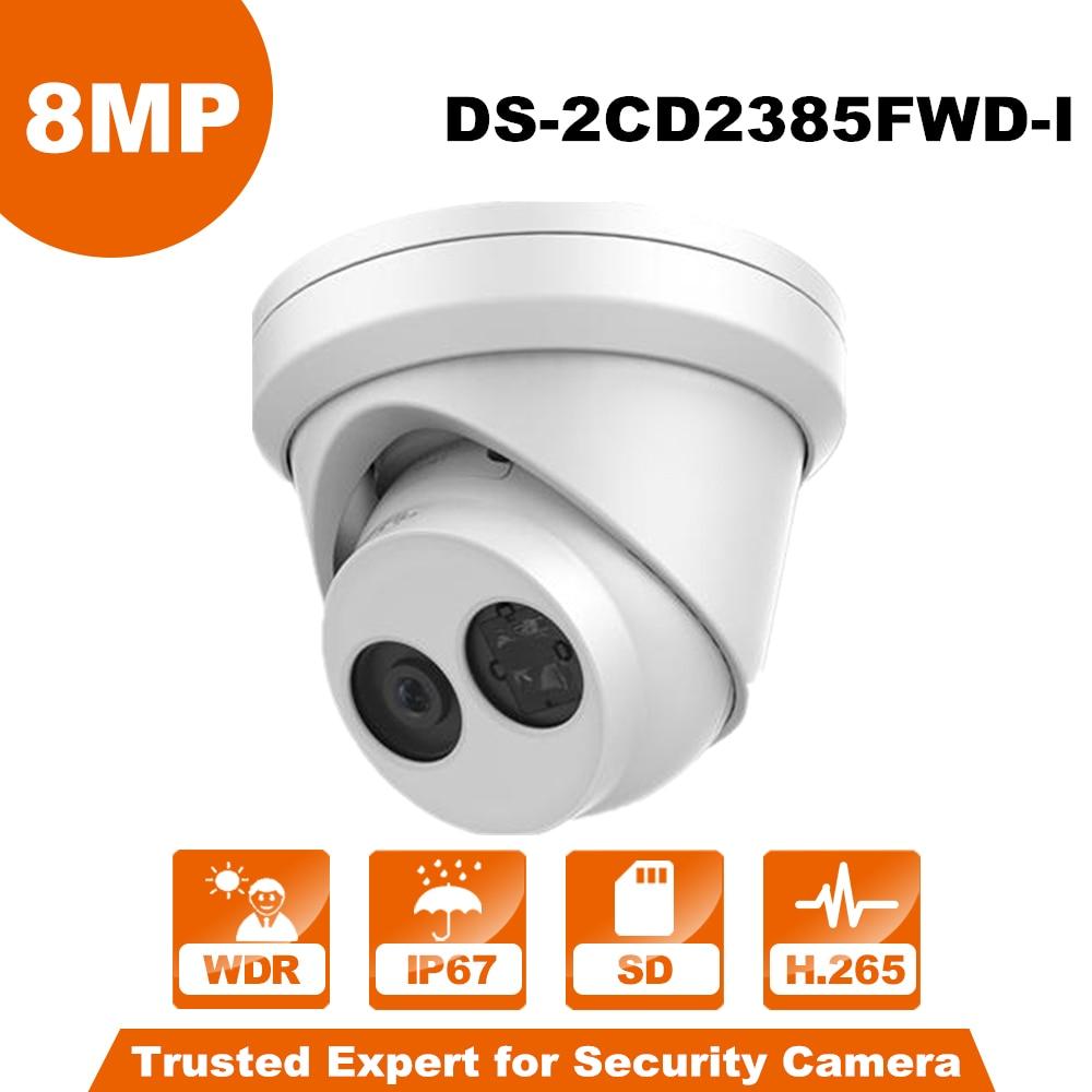 Originale Hik DS-2CD2385FWD-I Inglese Versione 8MP telecamera di Rete Dome IP Camera POE H.265 IR IP67 Fessura Per Carta di DEVIAZIONE STANDARD della macchina fotografica del cctv