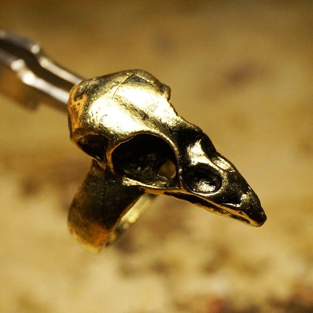 PUNK Ring ATTICUS Bird Skull Steam land Plague Doctor steampunk punk crow vintage finger Jewelry Retro
