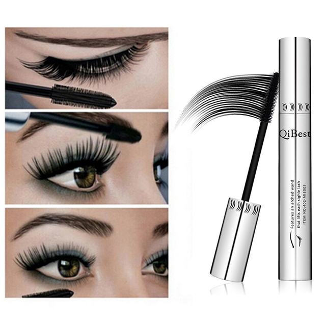 Qibest 24 Hours Mascara Brand New Makeup Mascara Volume Express False Eyelashes Make Up Waterproof Eyes Mascara Black 1