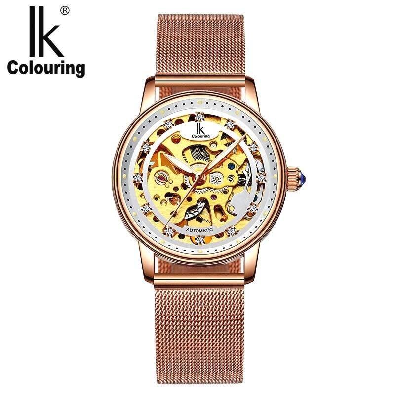 Femmes montre de luxe marque décontracté dames montre robe creux automatique mécanique montre horloge femme feminino reloj mujer - 3