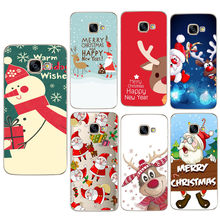 Kerstmis Case Voor Samsung Galaxy S9 Plus A3 A5 J5 2017 EU J530 A7 A8 Plus 2018 S8 Plus TPU telefoon Gevallen Cover Capinha(China)
