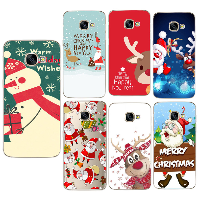Christmas Case For <font><b>Samsung</b></font> Galaxy S9 Plus A3 A5 <font><b>J5</b></font> 2017 EU J530 A7 A8 Plus 2018 S8 Plus TPU Phone Cases Cover <font><b>Capinha</b></font> image
