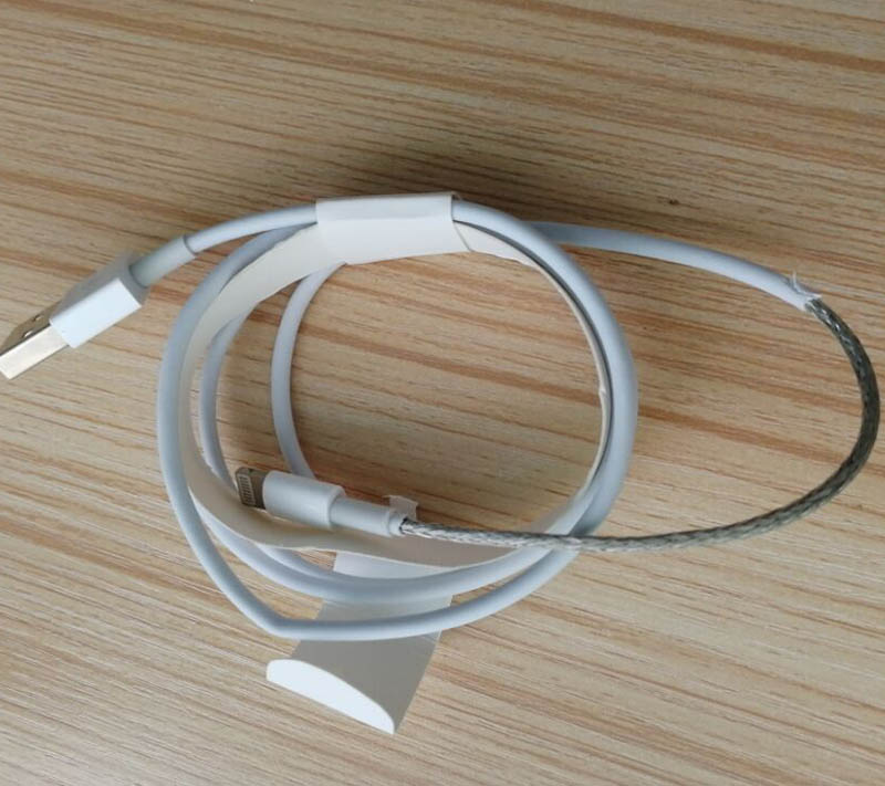 100pcs/lot  White USB Sync Data Charger Cable 1m For Lighting Cable  IPad Air For IPhone 7 8 XR  With English Retail Box