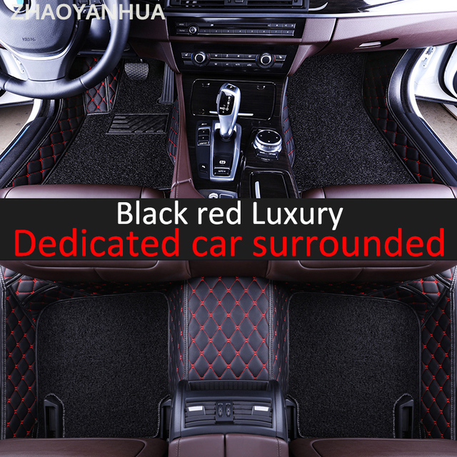 ZHAOYANHUA Special 100% fit car floor mats for Peugeot 206 207 2008 ...