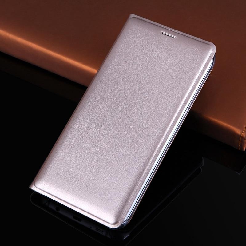 Schlanke Brieftasche Ledertasche mit Kartenhalter Flip Back Cover Ärmeltasche Telefon Holster Für Samsung Galaxy S7 G930 / S7 Edge G935