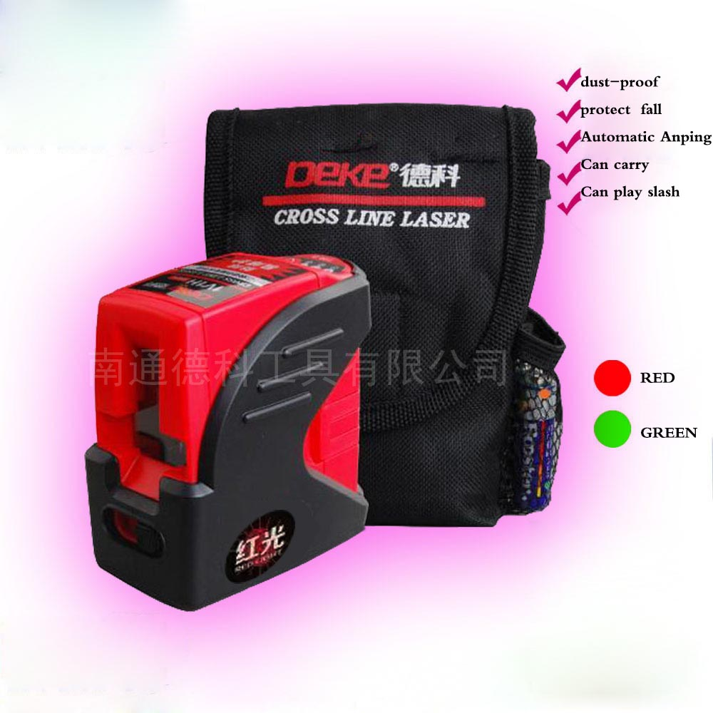 Mini DM-2R laser level, anti dropping, compact, easy to maintain, bright red, green ray marking instrument