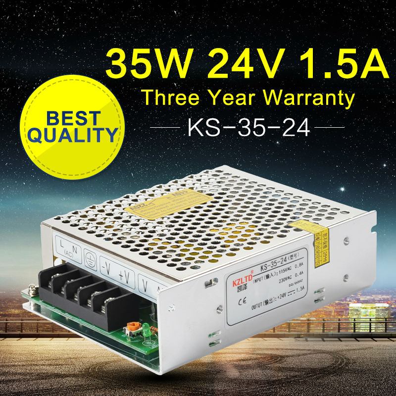 high efficiency 800w 12v ac dc switching power supply Power Supply DC24V 35W AC-DC Switching Adapter Voltage Transformer 24V UPS Power Supply for CNC CCTV Radio High Efficiency