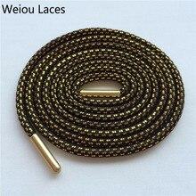 Weiou крестообразные черные золотые шнурки для обуви, спортивные блестящие струны в крапинку, новые модельные шнурки, эластичные для ботинок martin