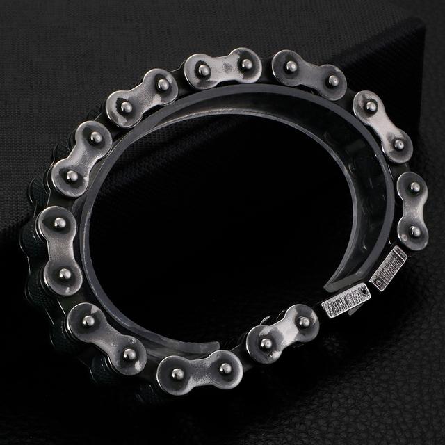 Motorcycle chain biker bracelet [Heavy]