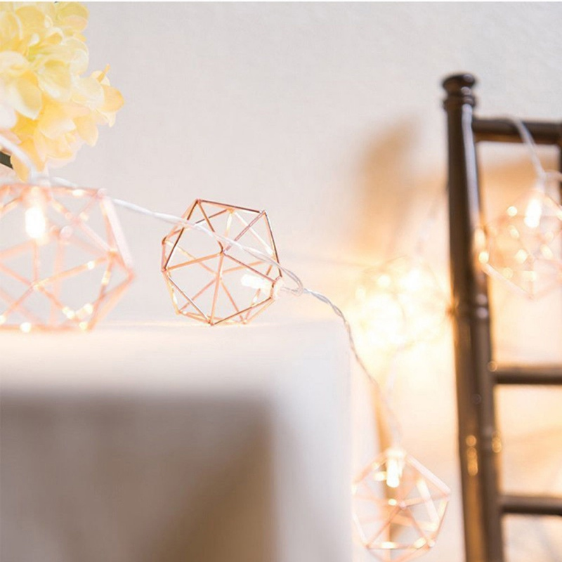 2018 Fashion Nordic Geometric Style Warm Light holiday Decoration Lamp Festival LED String Lighting Strings