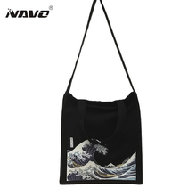 White /Black 2 Color Canvas Shopping Bag Foldable Reusable Grocery Bags Cotton Fabirc Eco Tote Bag Bolso Mujer