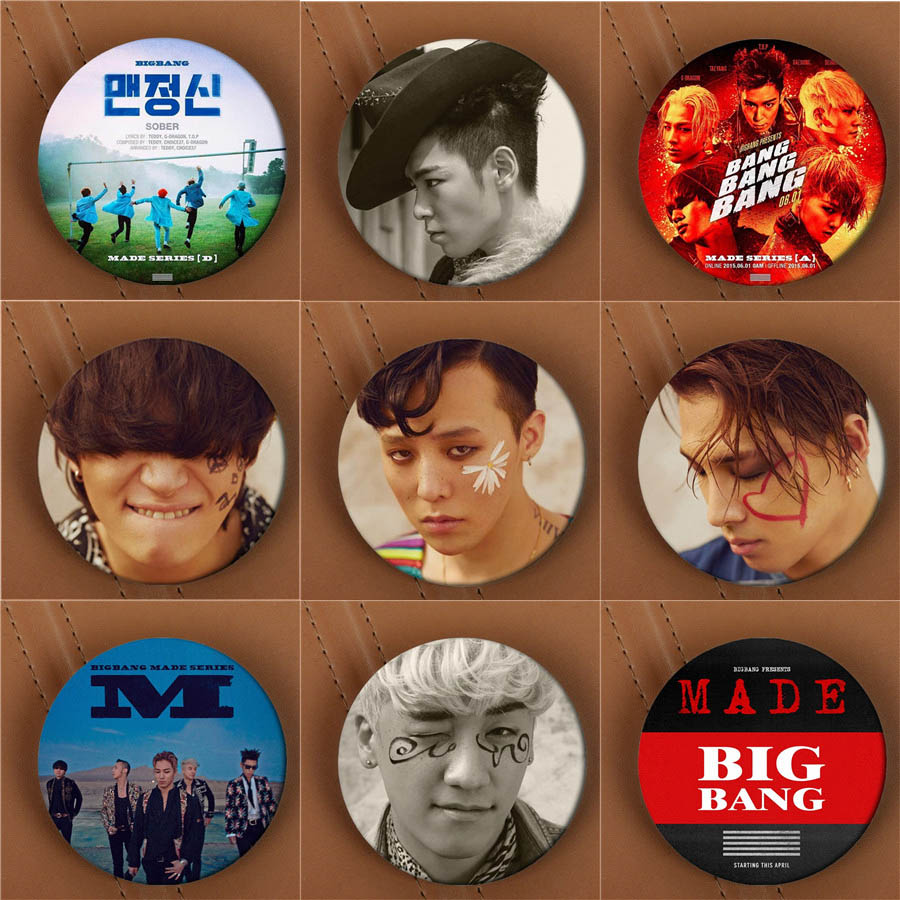 Youpop KPOP BIGBANG GD TOP MADE Series LOSER If You Album Brooch K-POP Pin Badge Accessories For Clothes Hat Backpack Decoration