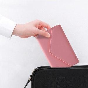 Image 3 - Yiwi 3 fold Krokodil Patroon PU Leer Notebook Roze Zwart Rood 17x12 cm A6 Hobo Stijl Planner