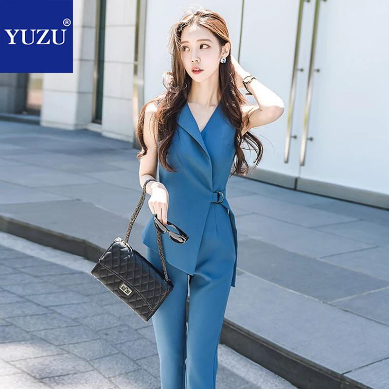 Jumpsuits   For Women 2018 Deep V Neck Overalls Blue Sleeveless Lace Up Bodycon Rompers Elegant Office Work Style Summer Romper