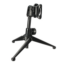Black Adjustable Metal Desktop Table Mic Microphone Clamp Clip Holder Stand Tripod