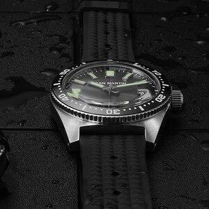 Image 3 - סן מרטין 62MAS גברים אוטומטי שעון נירוסטה שעון צלילה 200m מים עמיד 12 זוהר לוח Relojes Hombre 2018