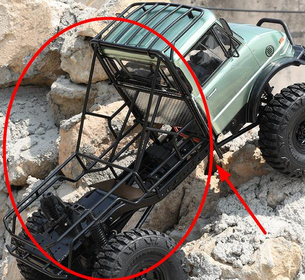 Metal Steel Frame Body Roll Cage Chassis For 1//10 RC Axial SCX10II AX90046 Car