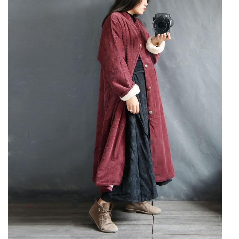 Winter Warm Corduroy Retro Padded Women Maternity Loose Coat Jaket for Pregnant Winter Pregnant Coat pregnant women autumn and winter new windbreaker jacket pregnant women loose casual jacket pregnant women long cotton coat
