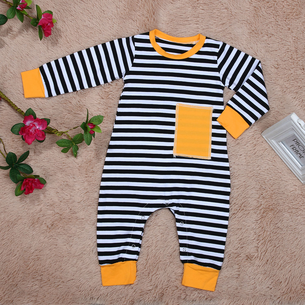 973c6b31007 Newborn Baby Kids Boys Striped Long Sleeve Romper Cotton Soft Jumpsuit  Playsuit Baby Boy Clothes-in Rompers from Mother   Kids on Aliexpress.com