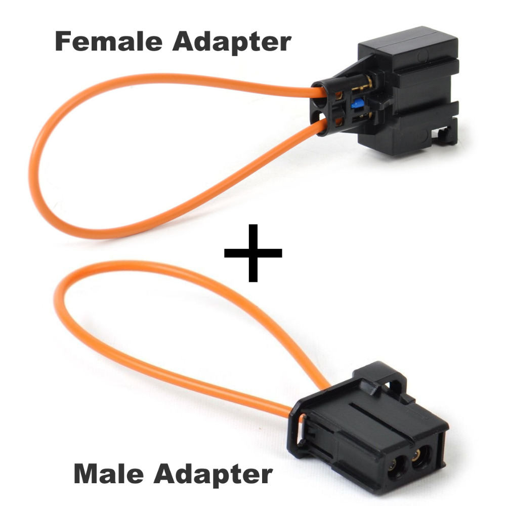 Reyann Fiber MOST optical optic loop bypass Male Female Adapter Auto Diagnostic Cable Tool For Audi