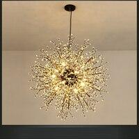 LED persönlichkeit löwenzahn Amerikanischen einfache mahlzeit kronleuchter schlafzimmer beleuchtung Nordic kronleuchter lampe kronleuchter CL FG449-in Pendelleuchten aus Licht & Beleuchtung bei