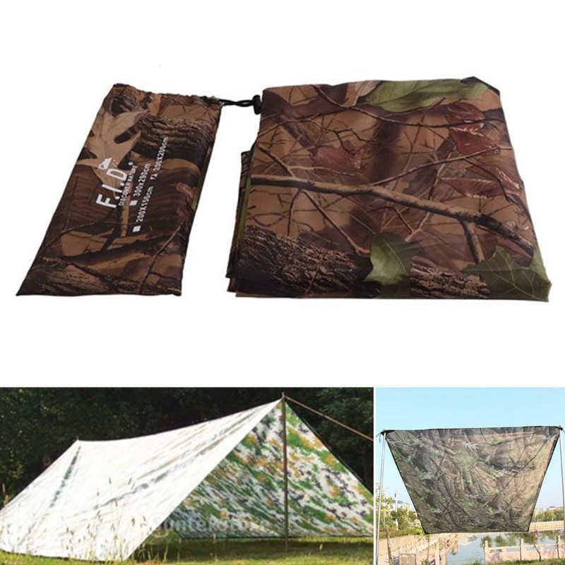 Outdoor Sports Awning Tarp For Camping Folding Waterproof Portable Shelter Sunshade Tent Cover