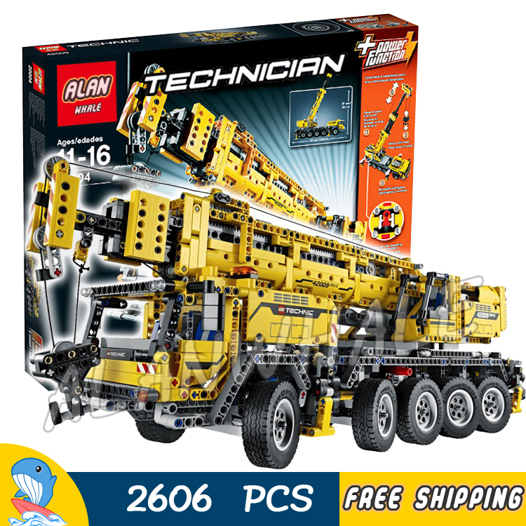 2606pcs 2in1 Technic Mobile Crane MK II Container Stacker 20004 Model Building Blocks Toys Bricks Machine Compatible with Lego 35150 american blue wave mk ii assemble model boat 1 35