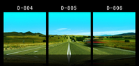 Framed 3 Panels Highway Grassland Paintings For The Wall Decor Modern Canvas Art Wall Pictures For
