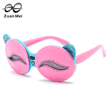 Zuan Mei Cute Eyes Bear Sunglasses for Children Pink Polarized Pink Girls Sun Glasses Fashion Accessories Eyewear for Kid ZM3472