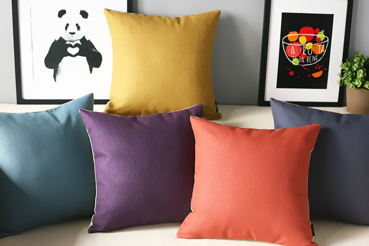 Pure Retro Yellow Blue Purple Red Pillow S,color Pillow Cushion , Modern  Pillow Home