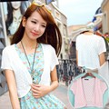 12 Colors Summer Women V-Neck Knitted Casual Loose Short Sleeve Sweaters Cardigans Lady Knitting Open Stitch Outwear