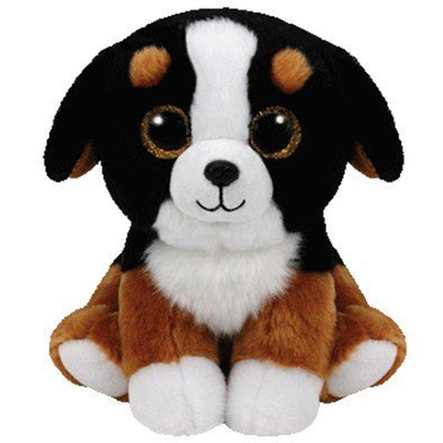 Pyoopeo Ty Beanie Babies 6 15cm Roscoe The Black White Dog Plush