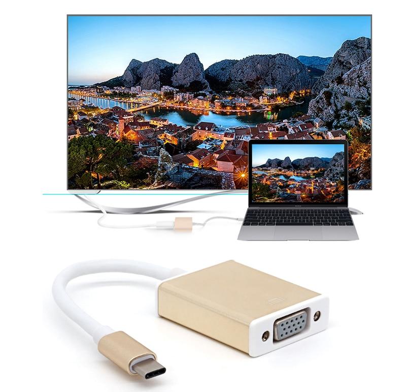 USB C USB 3.1 Type C to VGA Adapter 1080P Video Cable Convertor to 4k TV for Macbook 12 inch Computer Nokia N1 Asus Zen AiO nokia e71 tv деш вый бу