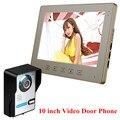 Проводной 10 дюймов HD LCD Главная Квартира Видео-Телефон Двери домофон 1 Монитор 1 Дверной звонок Камеры