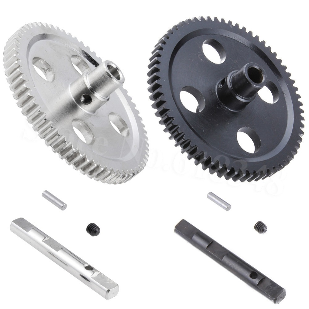 Metal Spur Diff Main Gear 62T Reduction Gear 0015 For WLtoys 12428 12423 1/12 RC Car Crawler Short Course Truck Upgrade Parts metal spur differential main gear 62t 0015 for wltoys 12428 12423 1 12 rc car crawler short course truck upgrade parts
