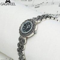 GAGAFEEL 2017 Women S Bracelet Watches 925 Sliver Quartz Watches For Woman Female Dress Wristwatch Clock