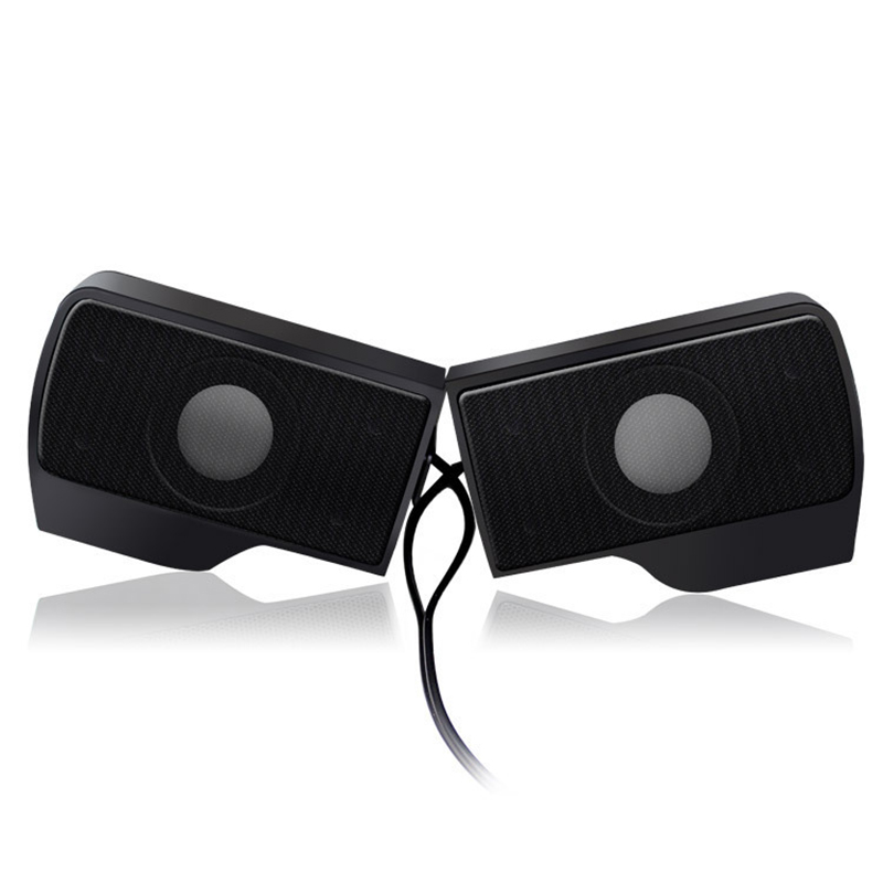 DOITOP USB Stereo Speaker Portable Mini Soundbar Clip-on Speaker for Notebook Laptop Computer PC Music Player with Clip A3