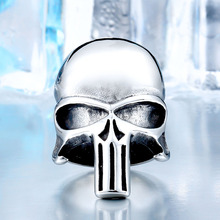 Punisher Skull Stainless Steel Fashion Jewelry Ring For Men