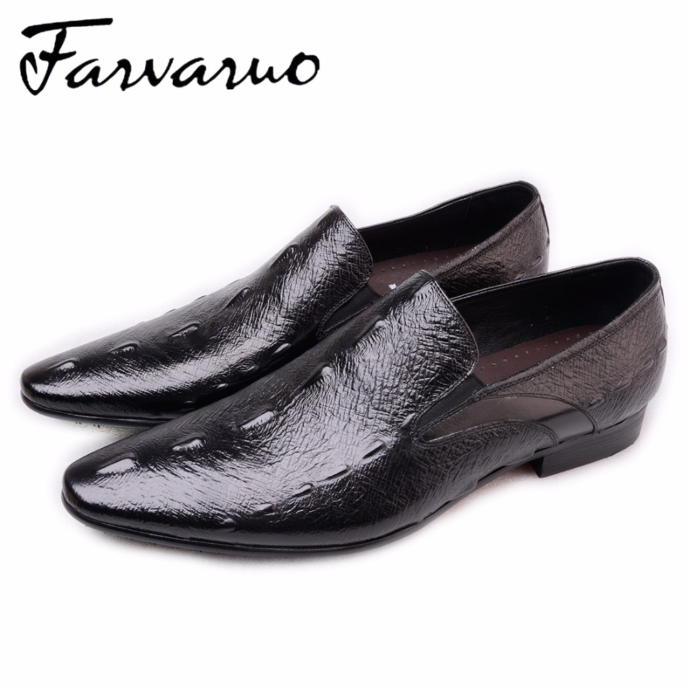 2017 Fashion Spring Shoes Men Casual Evening Party Dress Shoe Mens Embossed Leather Pointed Toe Flats Oxfords Moccasins Loafers plus size leather casual shoes handmade mens loafers fashion designer lace up men shoe men s flats breathable spring autumn shoe