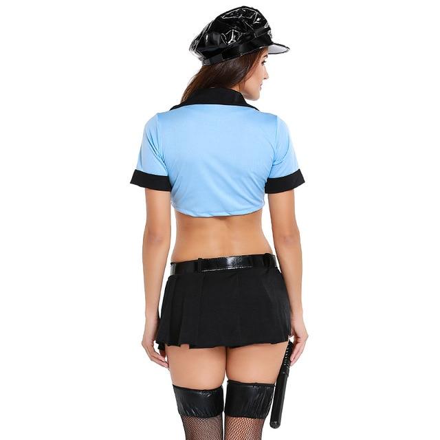 Sexy Exotic Cop Lingerie Costume 4