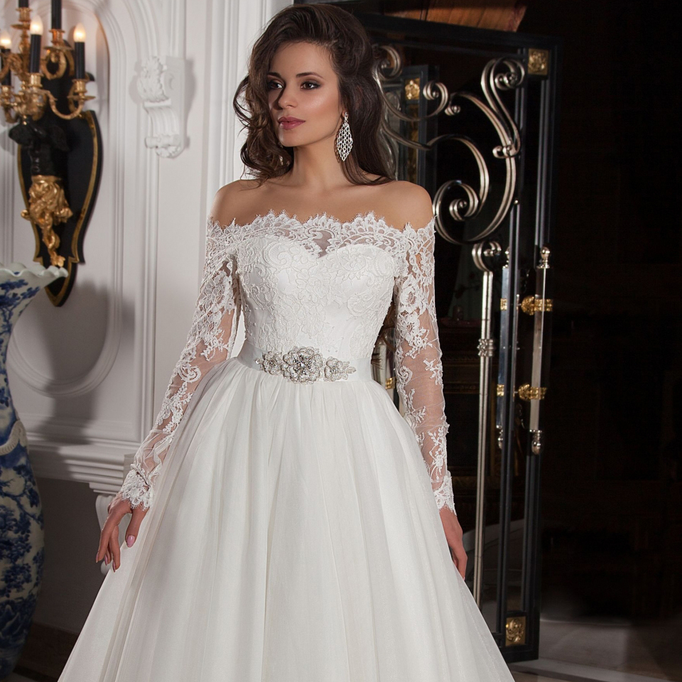 Halloween Long Sleeve Wedding Dresses