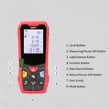 цена на LM100 Portable Digital Laser Distance Meter 100M High Precision Range Finder Rangefinder Length Area Volume Measurement
