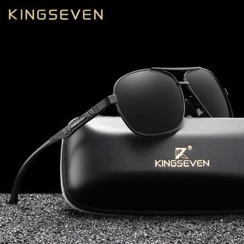 KINGSEVEN 2019 Brand Men Aluminum Sunglasses Polarized UV400 Mirror Male Sun Glasses Women For Men Oculos de sol