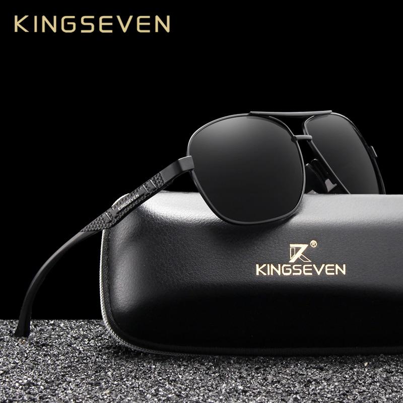 KINGSEVEN 2020 Brand Men Aluminum Sunglasses Polarized UV400 Mirror Male Sun Glasses Women For Men Oculos de sol|Men