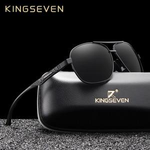 KINGSEVEN 2020 Brand Men Aluminum Sunglasses Polarized UV400 Mirror Male Sun Glasses Women For Men Oculos de sol(China)