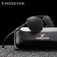 Kingseven 2019 marca de alumínio óculos polarizados uv400 espelho masculino óculos de sol feminino para homens óculos de sol