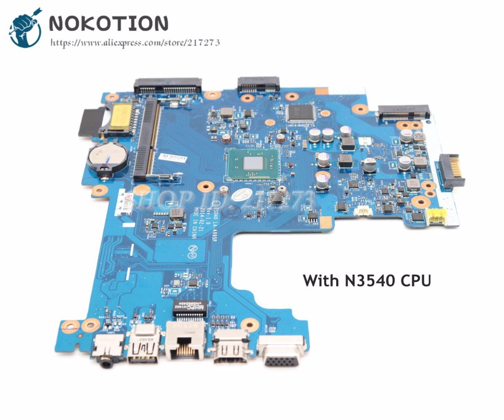 NOKOTION 788003-501 788003-001 For HP 14-R 240 Laptop motherboard ZS040 LA-A995P MAIN BOARD SR1YW N3540 CPU DDR3L