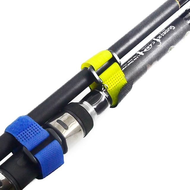1pcs Reusable Fishing Rod Tie Holder Strap Suspenders Fastener Hook Loop Cable Cord Ties Belt Fishing Accessories YB329  5